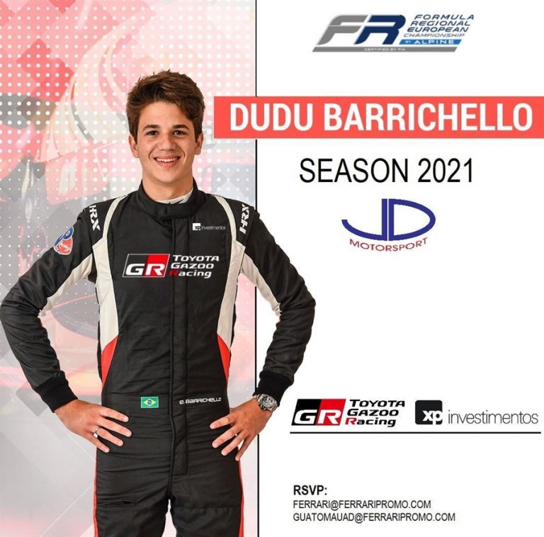 JD Motorsport signs Barrichello to Formula Regional European by Alpine programme